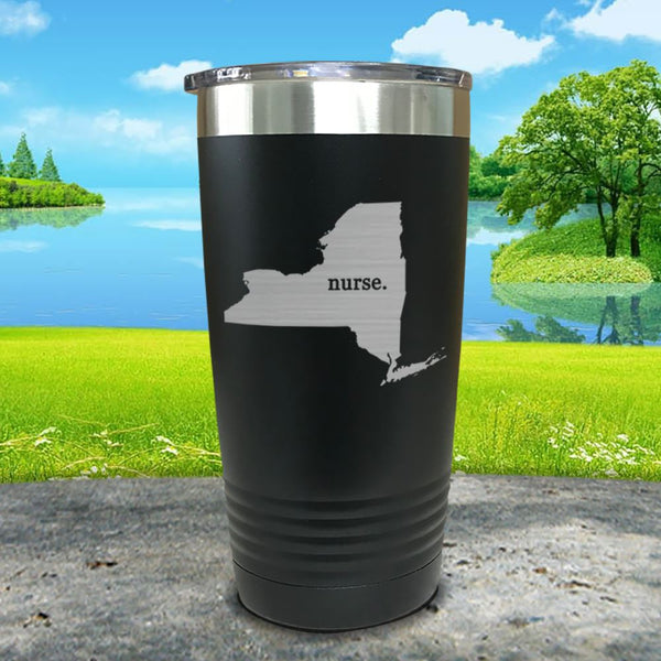 Nurse New York Premium Laser Engraved Tumbler