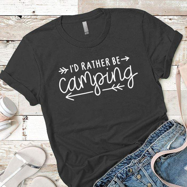 I'd Rather Be Camping Arrows Premium Tees T-Shirts CustomCat Heavy Metal X-Small