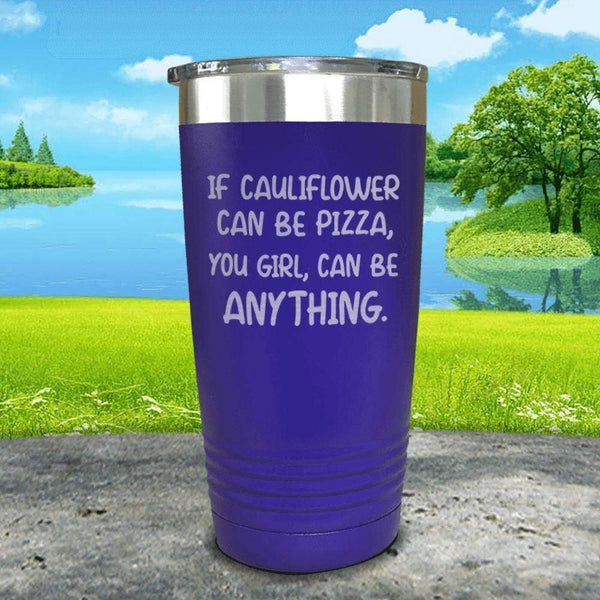 You Girl Can Be Anything Engraved Tumbler Tumbler ZLAZER 20oz Tumbler Royal Purple