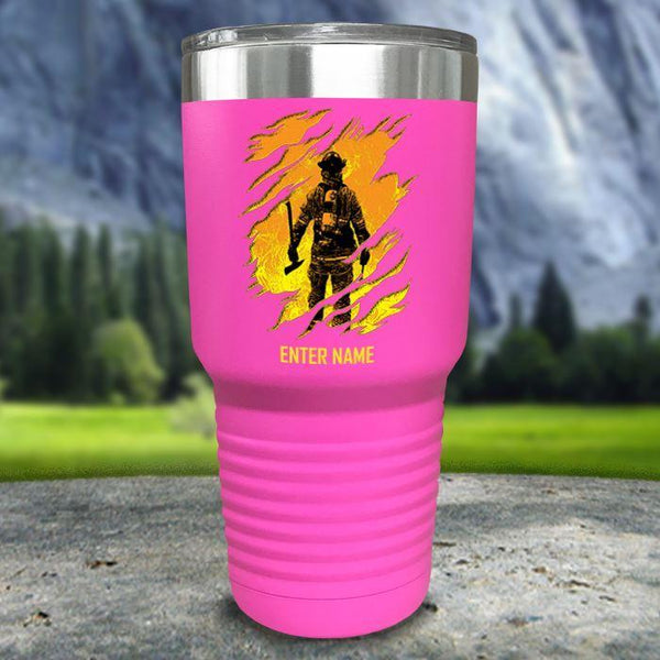 Personalized Into The Inferno Color Printed Tumblers Tumbler Nocturnal Coatings 30oz Tumbler Pink