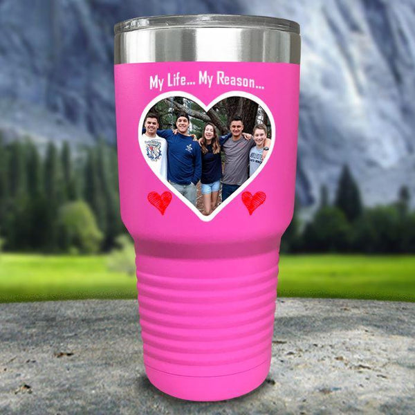(CUSTOM) Photo Love Color Printed Tumblers Tumbler Nocturnal Coatings 30oz Tumbler Pink