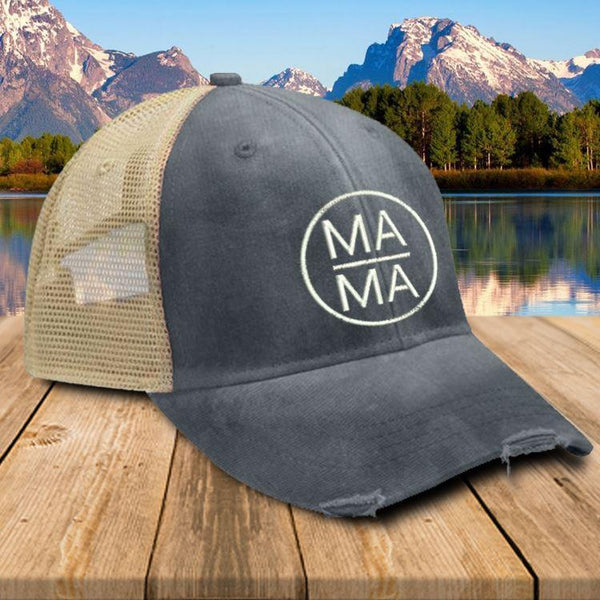 MAMA Trucker Hat Hat Edge Navy
