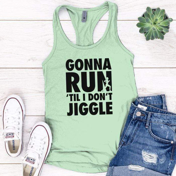 Gonna Run Premium Tank Tops Apparel Edge Minty S