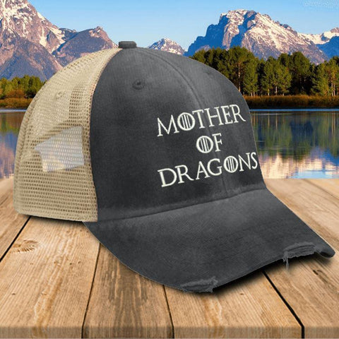 Mother Of Dragons Premium Trucker Hat Hat Edge Black
