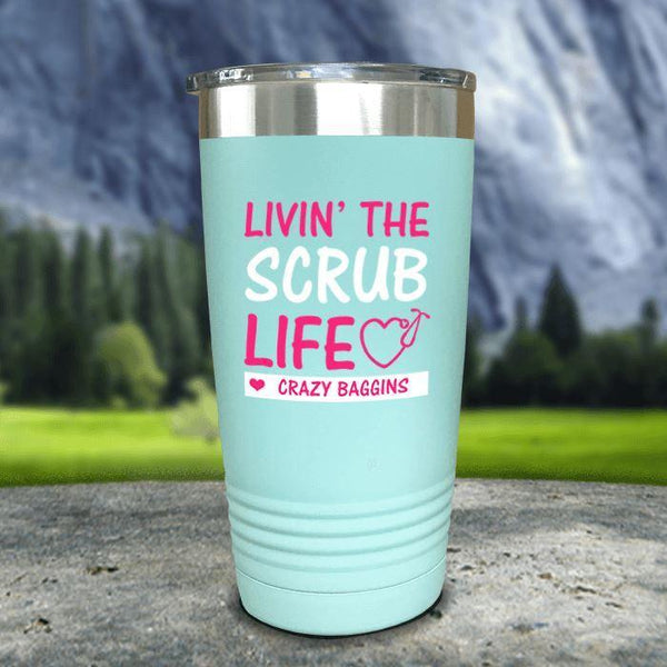 Personalized Scrub Life Color Printed Tumblers Tumbler Nocturnal Coatings 20oz Tumbler Mint