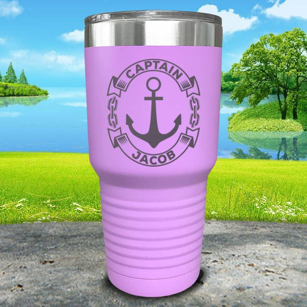 Captain Anchor (CUSTOM) Engraved Tumbler Tumbler ZLAZER 30oz Tumbler Lavender