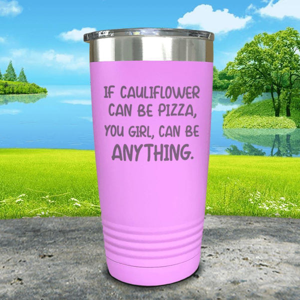 You Girl Can Be Anything Engraved Tumbler Tumbler ZLAZER 20oz Tumbler Lavender