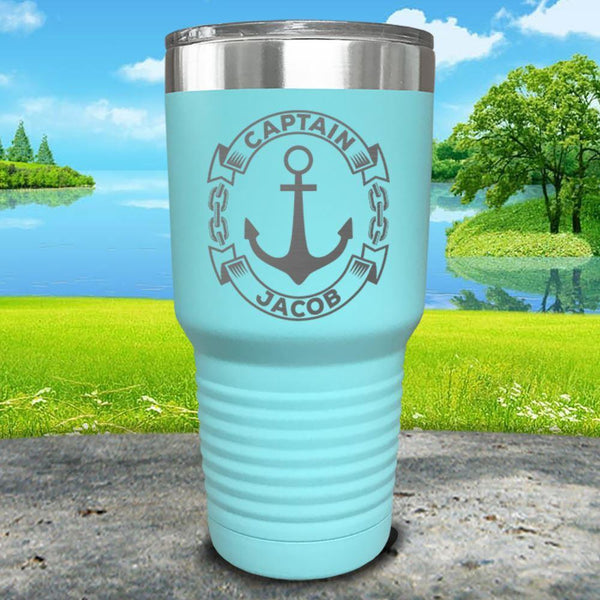 Captain Anchor (CUSTOM) Engraved Tumbler Tumbler ZLAZER 30oz Tumbler Mint