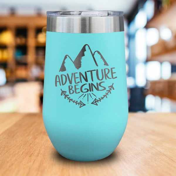 Adventure Begins Engraved Wine Tumbler