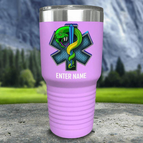 Personalized EMT Color Printed Tumblers Tumbler Nocturnal Coatings 30oz Tumbler Lavender