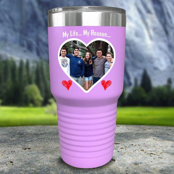 (CUSTOM) Photo Love Color Printed Tumblers Tumbler Nocturnal Coatings 30oz Tumbler Lavender