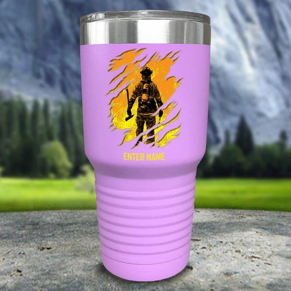 Personalized Into The Inferno Color Printed Tumblers Tumbler Nocturnal Coatings 30oz Tumbler Lavender