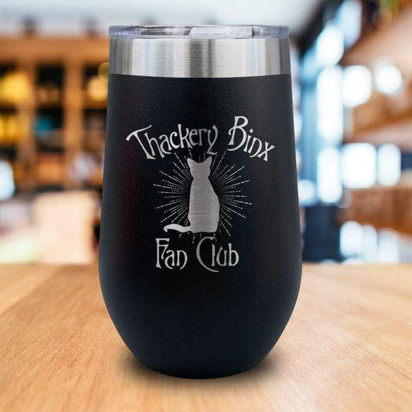 Thackery Binks Engraved Wine Tumbler LemonsAreBlue 16oz Wine Tumbler Black