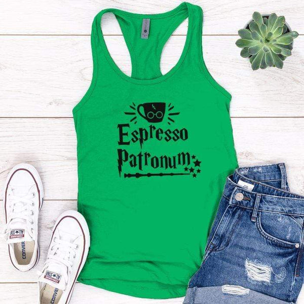Expresso Patronum Premium Tank Tops Apparel Edge Kelly Green S