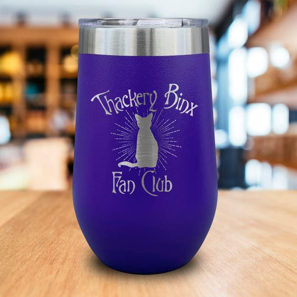 Thackery Binks Engraved Wine Tumbler LemonsAreBlue 16oz Wine Tumbler Purple