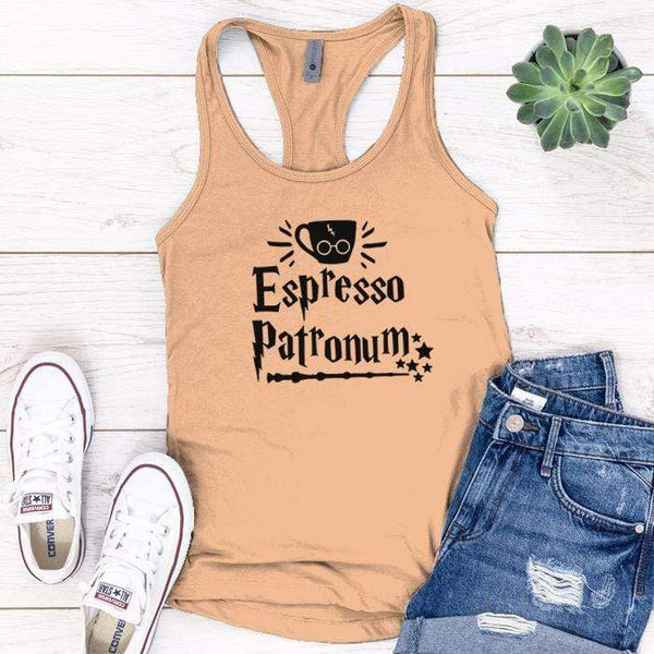 Expresso Patronum Premium Tank Tops Apparel Edge Light Orange S