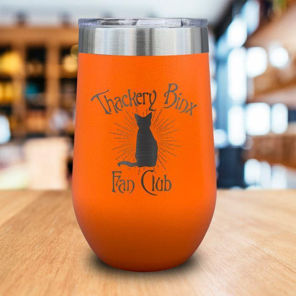 Thackery Binks Engraved Wine Tumbler LemonsAreBlue 16oz Wine Tumbler Orange