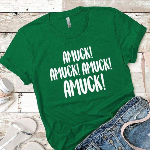 Amuck Premium Tees T-Shirts CustomCat Kelly Green X-Small