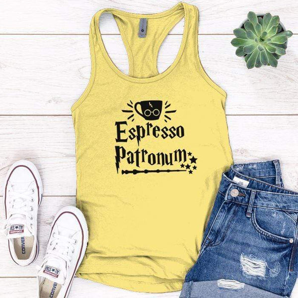 Expresso Patronum Premium Tank Tops Apparel Edge Banana Cream S