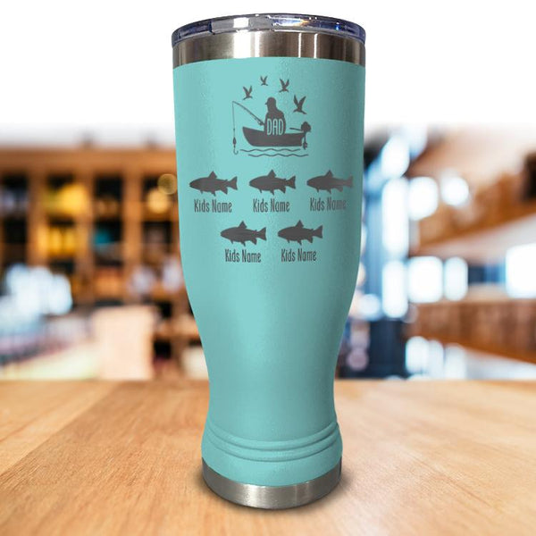 Personalized Dad Fishing Pilsner Style tumbler