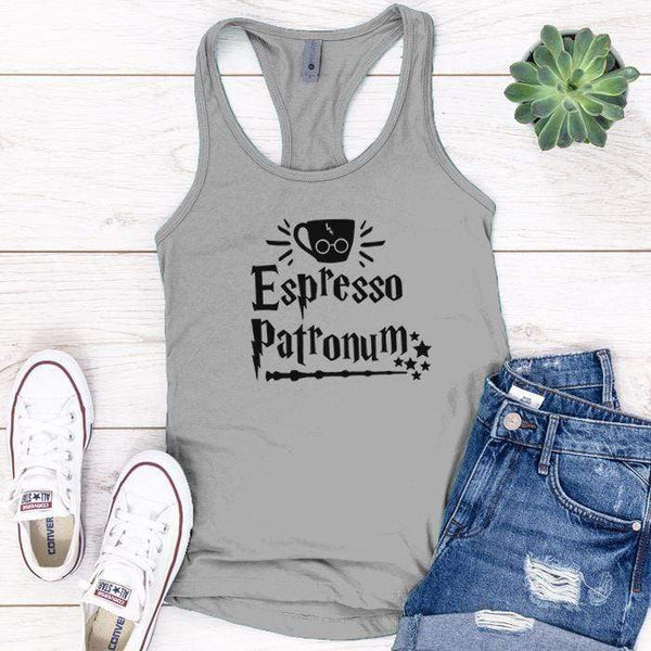 Expresso Patronum Premium Tank Tops Apparel Edge Heather Grey S