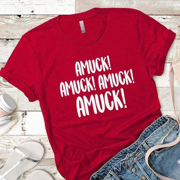 Amuck Premium Tees T-Shirts CustomCat Red X-Small