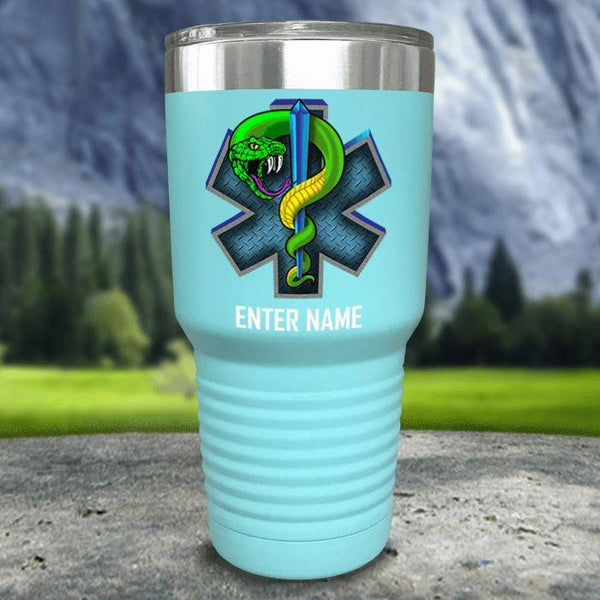 Personalized EMT Color Printed Tumblers Tumbler Nocturnal Coatings 30oz Tumbler Mint
