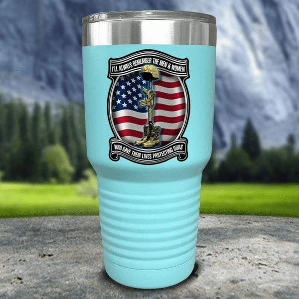 Veteran Always Remember Color Printed Tumblers Tumbler Nocturnal Coatings 30oz Tumbler Mint