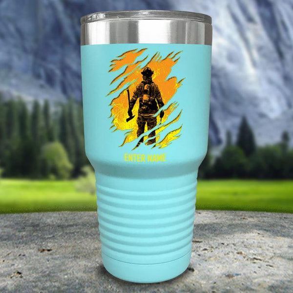 Personalized Into The Inferno Color Printed Tumblers Tumbler Nocturnal Coatings 30oz Tumbler Mint