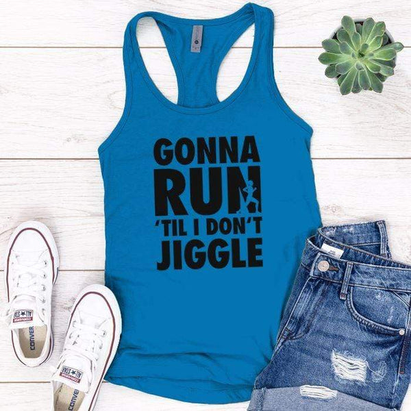 Gonna Run Premium Tank Tops Apparel Edge Turquoise S