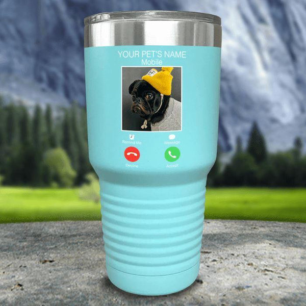 Personalized Pet Name & Photo Phone Color Printed Tumblers Tumbler Nocturnal Coatings 30oz Tumbler Mint