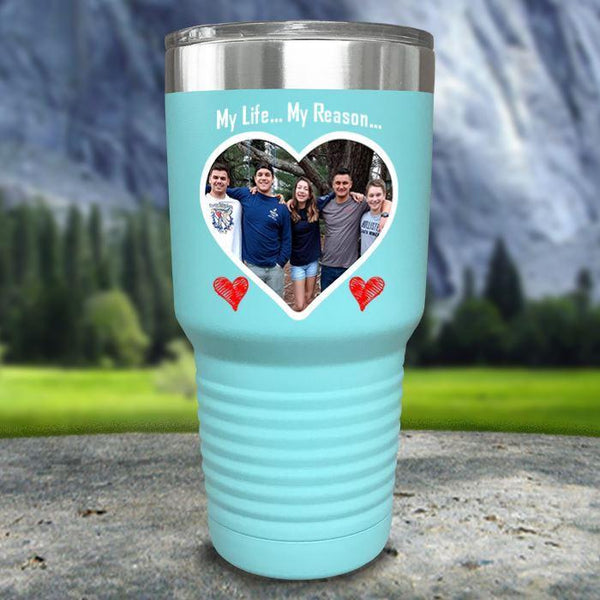 (CUSTOM) Photo Love Color Printed Tumblers Tumbler Nocturnal Coatings 30oz Tumbler Mint