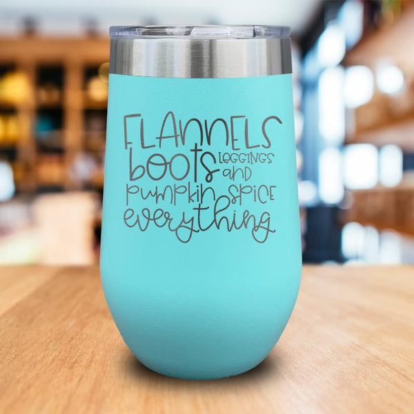 Flannels Engraved Wine Tumbler