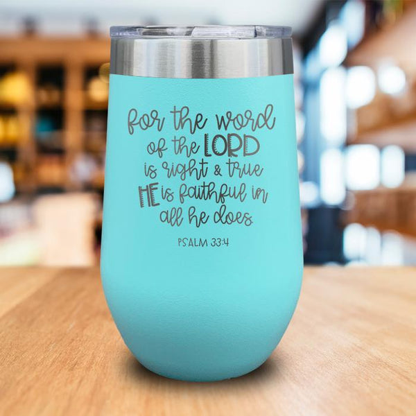 He Is Faithful Engraved Wine Tumbler