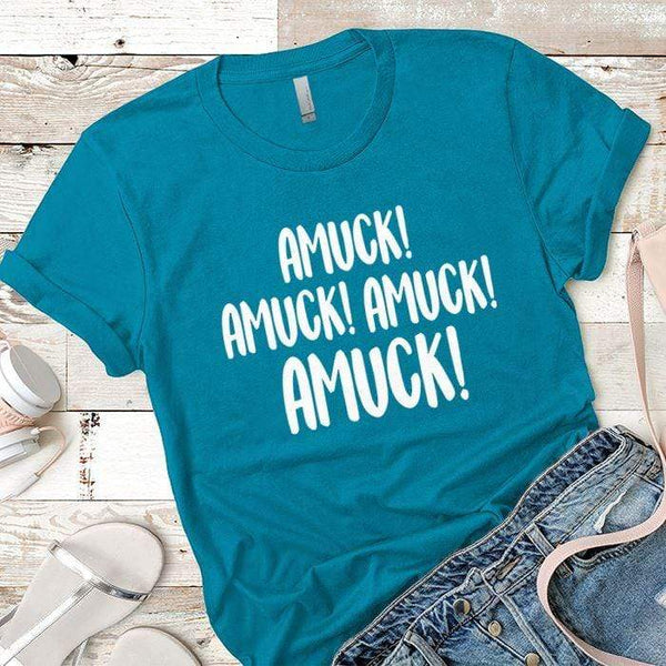 Amuck Premium Tees T-Shirts CustomCat Turquoise X-Small