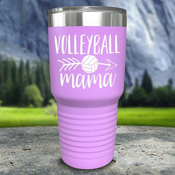 Volleyball Mama Color Printed Tumblers Tumbler Nocturnal Coatings 30oz Tumbler Lavender