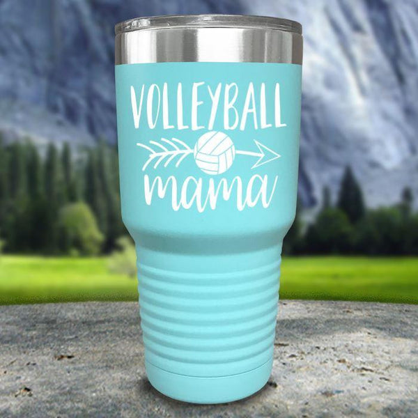Volleyball Mama Color Printed Tumblers Tumbler Nocturnal Coatings 30oz Tumbler Mint