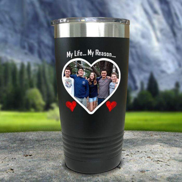 (CUSTOM) Photo Love Color Printed Tumblers Tumbler Nocturnal Coatings 20oz Tumbler Black
