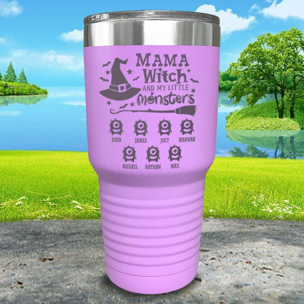 Mama Witch (CUSTOM) With Child's Name Engraved Tumbler Tumbler ZLAZER 30oz Tumbler Lavender