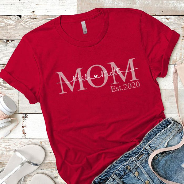 PERSONALIZED Mom Est Premium Tees