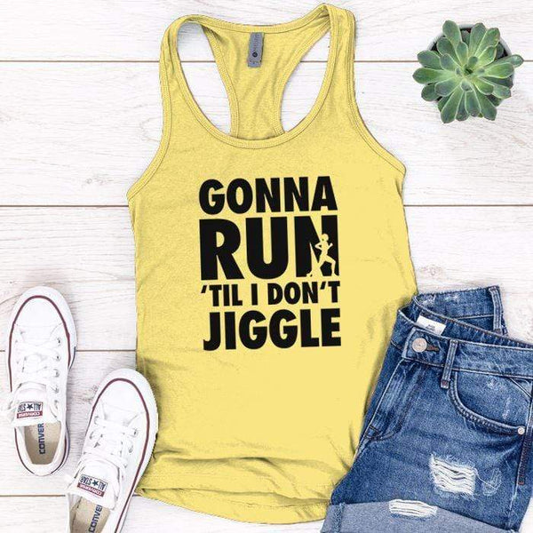 Gonna Run Premium Tank Tops Apparel Edge Banana Cream S