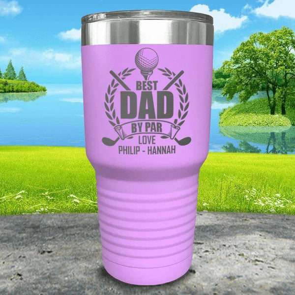 CUSTOM Best Dad By Par Engraved Tumblers Tumbler ZLAZER 30oz Tumbler Lavender
