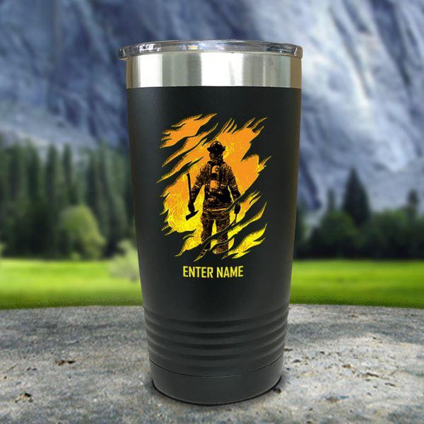 Personalized Into The Inferno Color Printed Tumblers Tumbler Nocturnal Coatings 20oz Tumbler Black