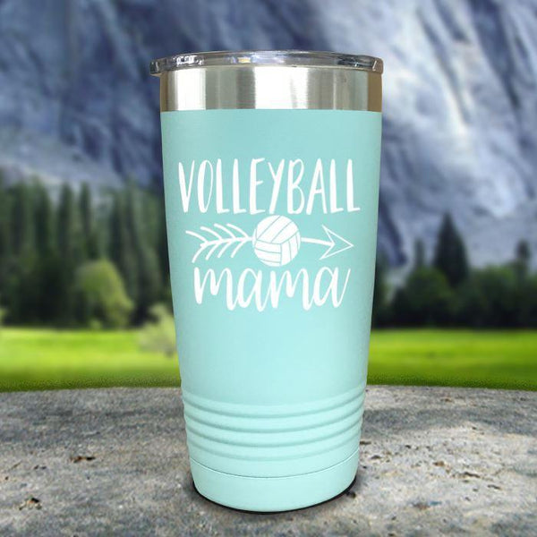 Volleyball Mama Color Printed Tumblers Tumbler Nocturnal Coatings 20oz Tumbler Mint