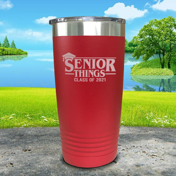 Senior Things Class Of 2021 Engraved Tumbler