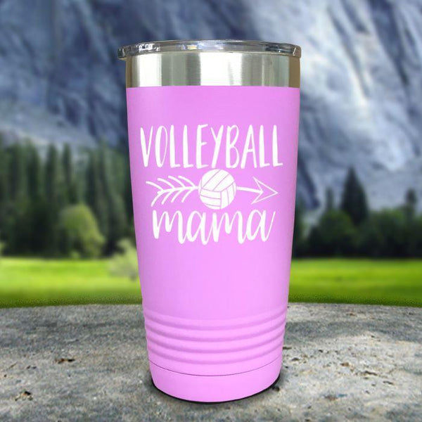 Volleyball Mama Color Printed Tumblers Tumbler Nocturnal Coatings 20oz Tumbler Lavender