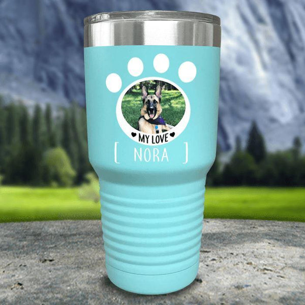 Personalized Pet Photo Color Printed Tumblers Tumbler Nocturnal Coatings 30oz Tumbler Mint