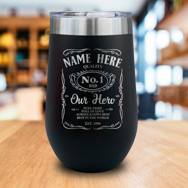 PERSONALIZED Dad Vintage Engraved Wine Tumbler