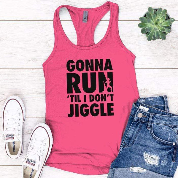 Gonna Run Premium Tank Tops Apparel Edge Pink S