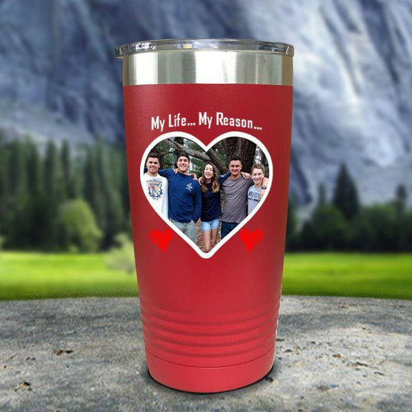(CUSTOM) Photo Love Color Printed Tumblers Tumbler Nocturnal Coatings 20oz Tumbler Red